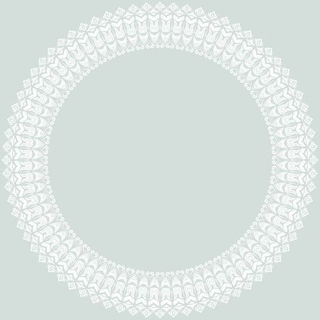 frilly: Oriental vector abstract round pattern with arabesques and floral elements