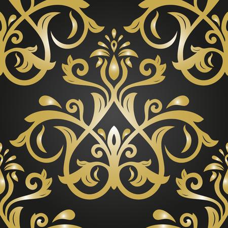 oriental vector: Oriental vector classic golden pattern