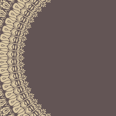 quadratic: Classic vector frame with arabesques and orient golden elements Vettoriali