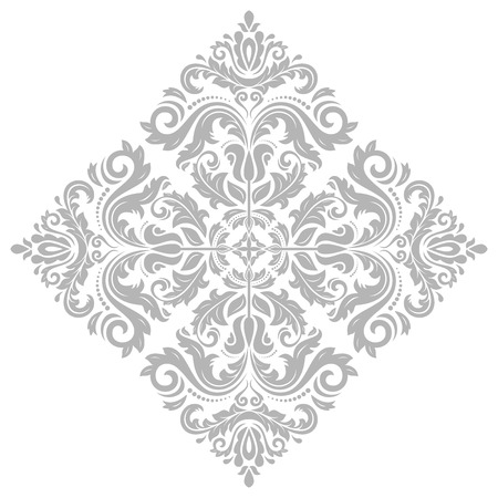 vintage ornament: Oriental vector pattern with arabesques and floral elements. Traditional classic bright ornament