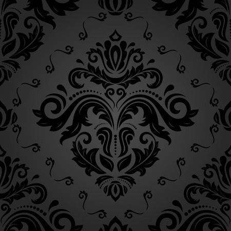 oriental vector: Oriental vector classic pattern. Seamless abstract dark background