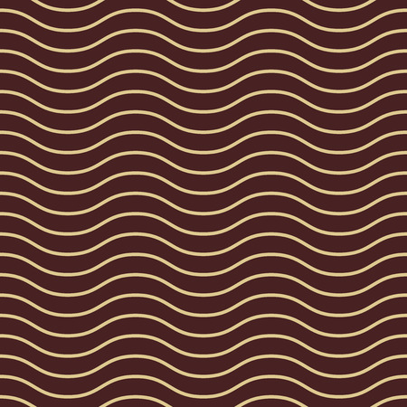 waves pattern: Seamless vector ornament. Modern stylish geometric pattern with repeating brown and golden waves