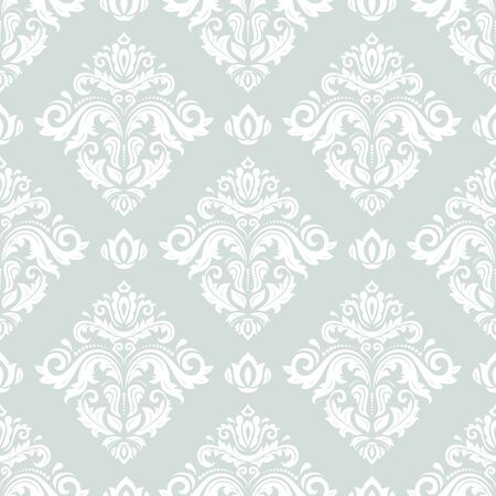 oriental vector: Oriental vector classic white pattern. Seamless abstract background