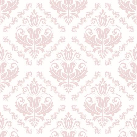 東洋ベクトル古典的なピンクのパターン。シームレスな抽象的な背景