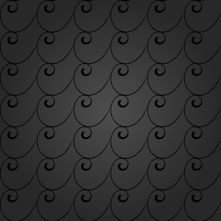 gray and black: Seamless vector ornament. Modern stylish geometric pattern with repeating waves