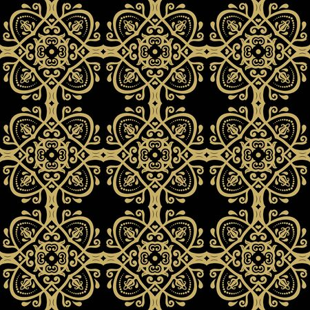 fine: Oriental  fine classic golden texture. Seamless abstract background