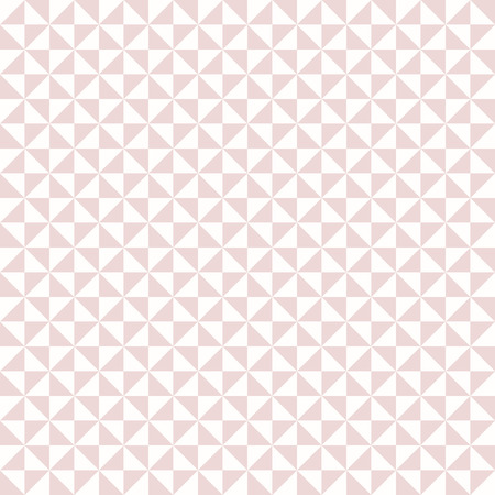 Geometric vector texture with pink triangles. Seamless abstract background