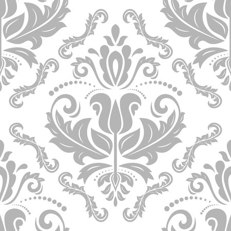 oriental vector: Oriental vector classic silver pattern. Seamless abstract background
