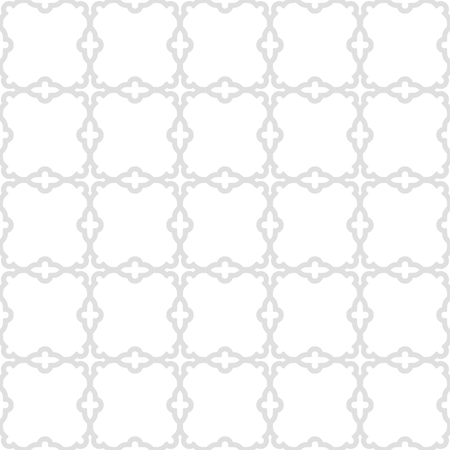 fine silver: Geometric vector ornament with oriental elements. Seamless grill with fine silver pattern for wallpapers and backgrounds Illustration