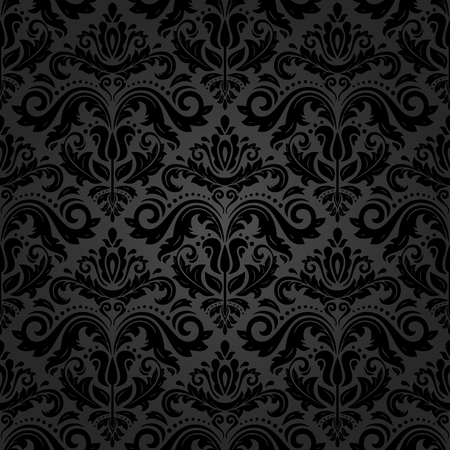 oriental vector: Oriental vector classic pattern. Seamless abstract dark background