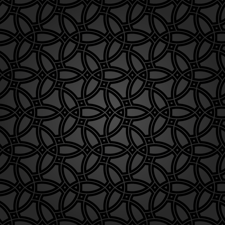 Fine geometric  pattern with oriental elements. Seamless dark grill for wallpapers and backgrounds Stockfoto