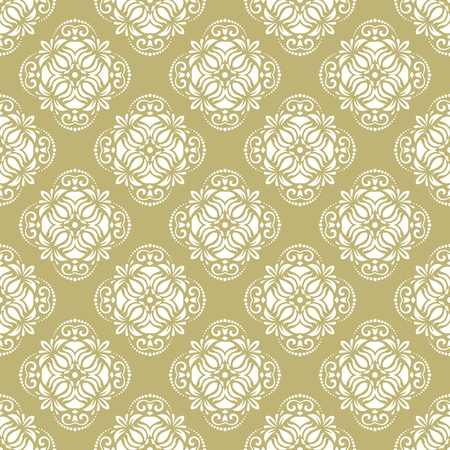 arabic background: Oriental vector classic pattern. Seamless abstract golden background