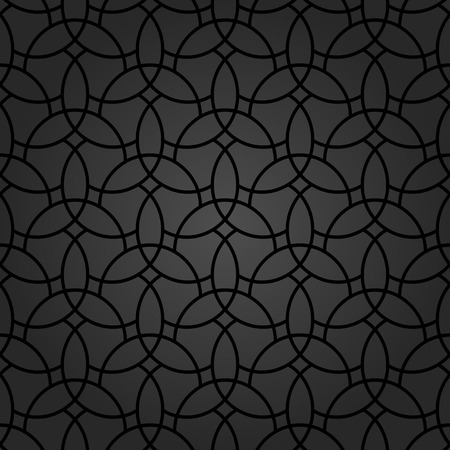 texture backgrounds: Fine geometric  dark pattern with oriental black elements. Seamless grill for wallpapers and backgrounds