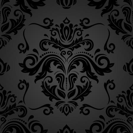 fine: Oriental  fine dark pattern. Seamless abstract background Stock Photo
