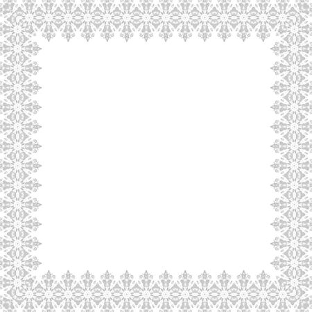 ornamental frame: Classic  frame with nice arabesques and orient elements. Abstract fine bright ornament Stock Photo