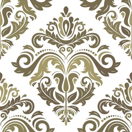 old wallpaper: Oriental  fine classic colorful pattern. Seamless abstract background Stock Photo