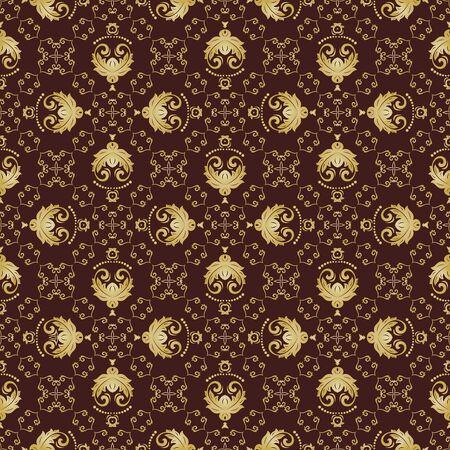 fine: Oriental  fine classic golden pattern. Seamless abstract