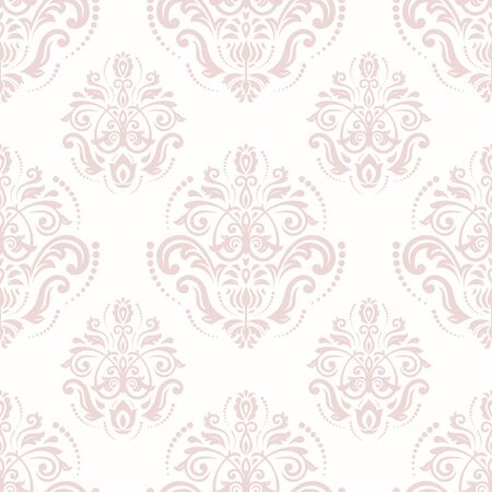 pink wallpaper: Oriental vector classic pattern. Seamless abstract pink background