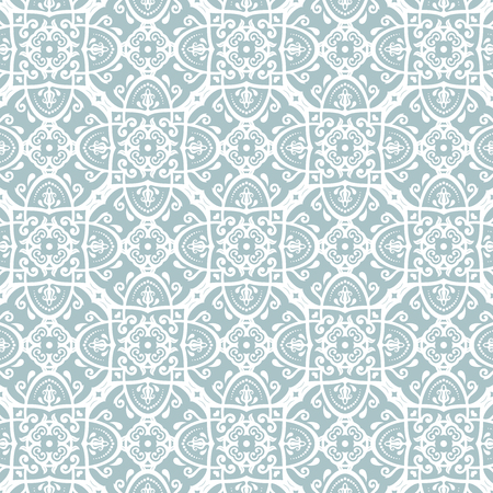 oriental vector: Oriental vector classic pattern. Seamless abstract blue and white background