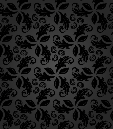 fine: Floral vector ornament. Seamless abstract classic fine pattern Illustration