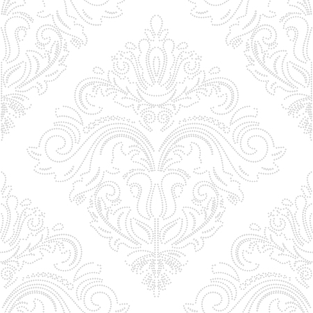 oriental vector: Oriental vector classic pattern. Seamless abstract background with silver outlines Illustration