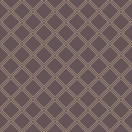 黄金の斜めの線で幾何学的な罰金抽象的なベクトルの茶色の背景。現代のシームレスなパターン 写真素材 - 45568558