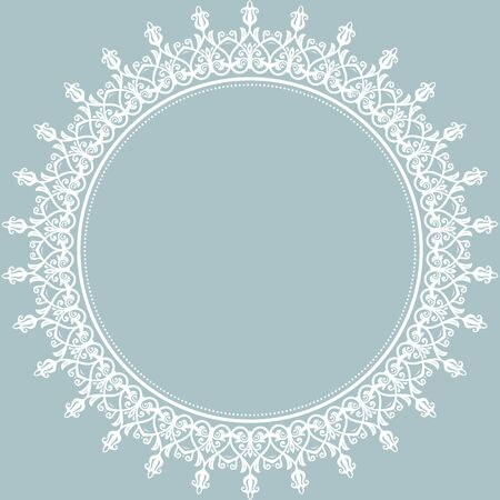 Orientalisches Muster mit Arabesken und floralen Elementen. Traditionelle klassische weiße runde Verzierung Standard-Bild - 45568607