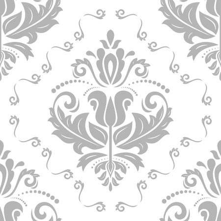 grey pattern: Oriental  fine classic pattern. Seamless abstract background