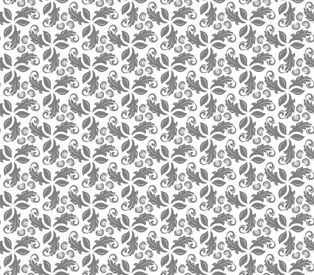 fine silver: Floral vector ornament. Seamless abstract classic fine silver pattern