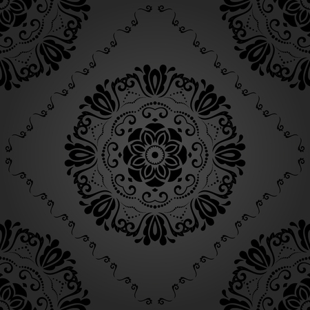 oriental vector: Oriental vector classic dark pattern. Seamless abstract background