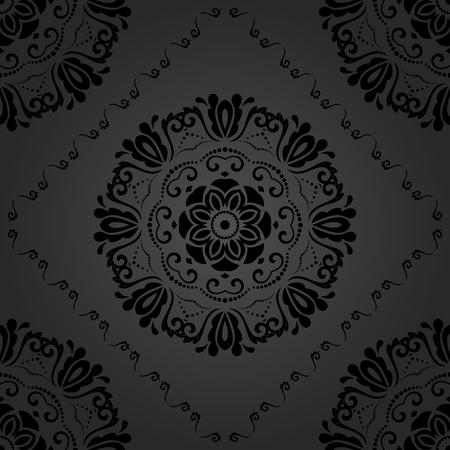 oriental vector: Oriental vector classic dark pattern. Seamless abstract background