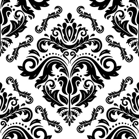 oriental vector: Oriental vector classic pattern. Seamless abstract black and white background Illustration