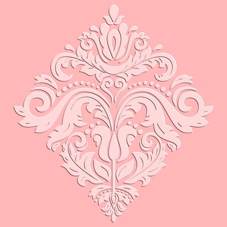 ornement oriental. Beaux motif rose traditionnel avec des éléments 3D du volume et des faits saillants Banque d'images