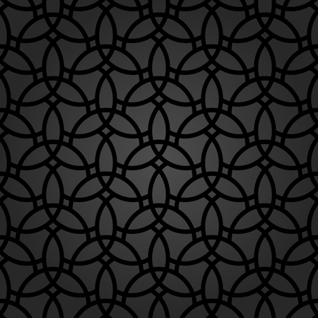 black pattern: Fine geometric  pattern with oriental elements. Seamless fine ornament for wallpapers and backgrounds