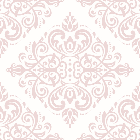 oriental vector: Oriental vector classic pattern. Seamless abstract pink background