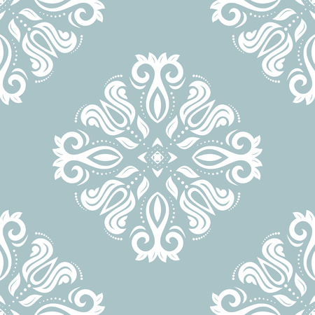 oriental vector: Oriental vector classic blue and white pattern. Seamless abstract background Illustration