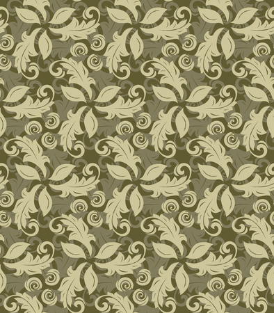golde: Floral vector golden ornament. Seamless abstract pattern with fine ornament