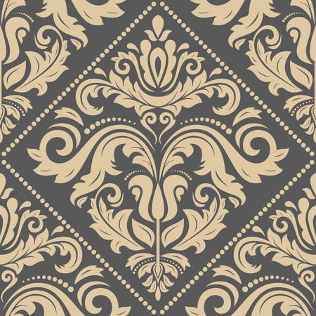 oriental vector: Oriental vector classic golden pattern. Seamless abstract background Illustration