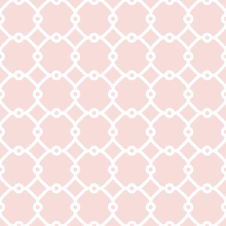 Feine Geometrische Rosa Und Weiß Muster Mit Orientalischen Elementen