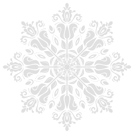 grey pattern: Oriental  classic bright pattern. Seamless abstract background