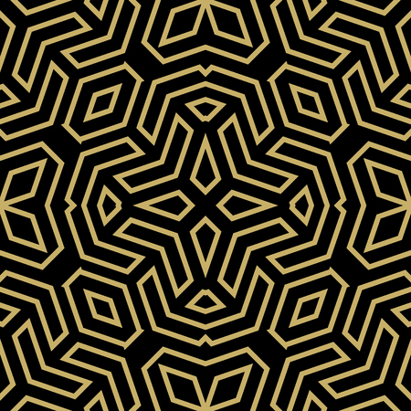 Geometric fine abstract  background. Seamless modern golden pattern