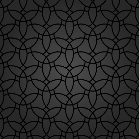 luxuries: Fine geometric  pattern with oriental black elements. Seamless grill for wallpapers and backgrounds