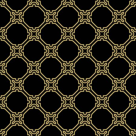 lines wallpaper: Geometric  golden grid. Seamless fine abstract texture Stock Photo