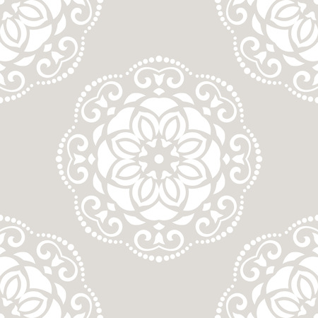 oriental vector: Oriental vector classic pastel pattern. Seamless abstract background