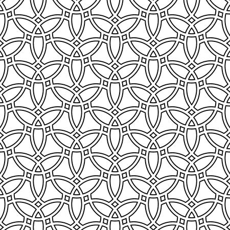 abstract art background: Seamless vector ornament. Modern stylish light geometric pattern with repeating black elements Illustration