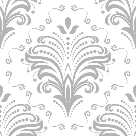 repeated: Floral ornament. Seamless abstract silver background with fine pattern