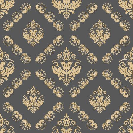 oriental vector: Oriental vector classic ornament. Seamless abstract golden pattern