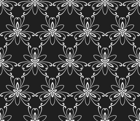 fine: Floral ornament. Seamless abstract pattern with fine pattern Stock Photo
