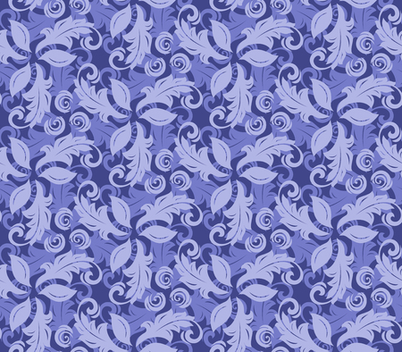 fine: Floral vector blue ornament. Seamless abstract background with fine pattern Illustration