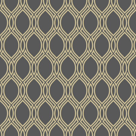 lines wallpaper: Seamless  ornament. Modern stylish geometric golden pattern with repeating elements Stock Photo